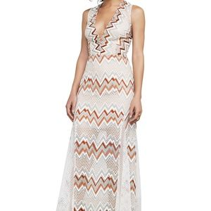 BCBG Gia Chevron Lace Dress BEIGE Size 6 #24